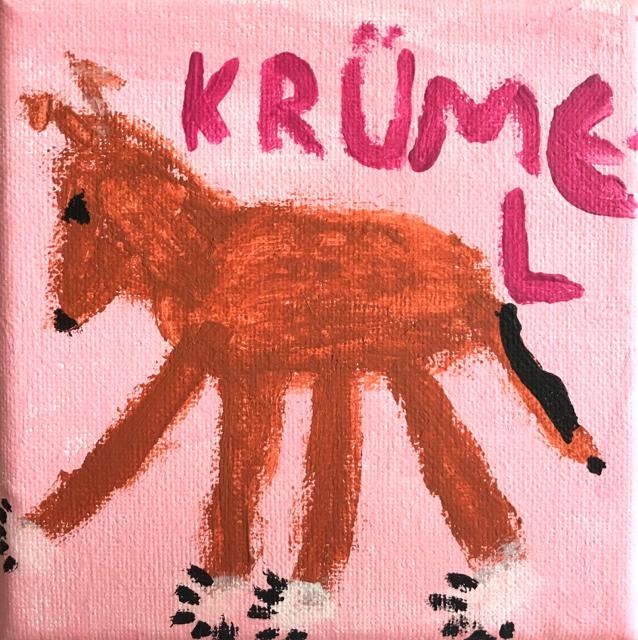 Krümel gemalt